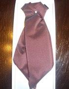 elegancki musznik krawat wiśniowy