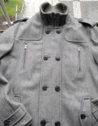 Modny męski szary płaszcz jesień zima wiosna Angelo Litrico C&A XL XXL 56 58