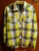 Żółta koszula XXL House długi rękaw