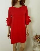 Czerwona trapezowa sukienka rozm 40...