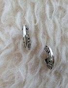 srebrne kolczyki z greckim motywem