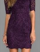 fioletowa koronkowa sukienka S nowa