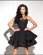 ALLURE Luksusowa sukienka z haftem czarna...
