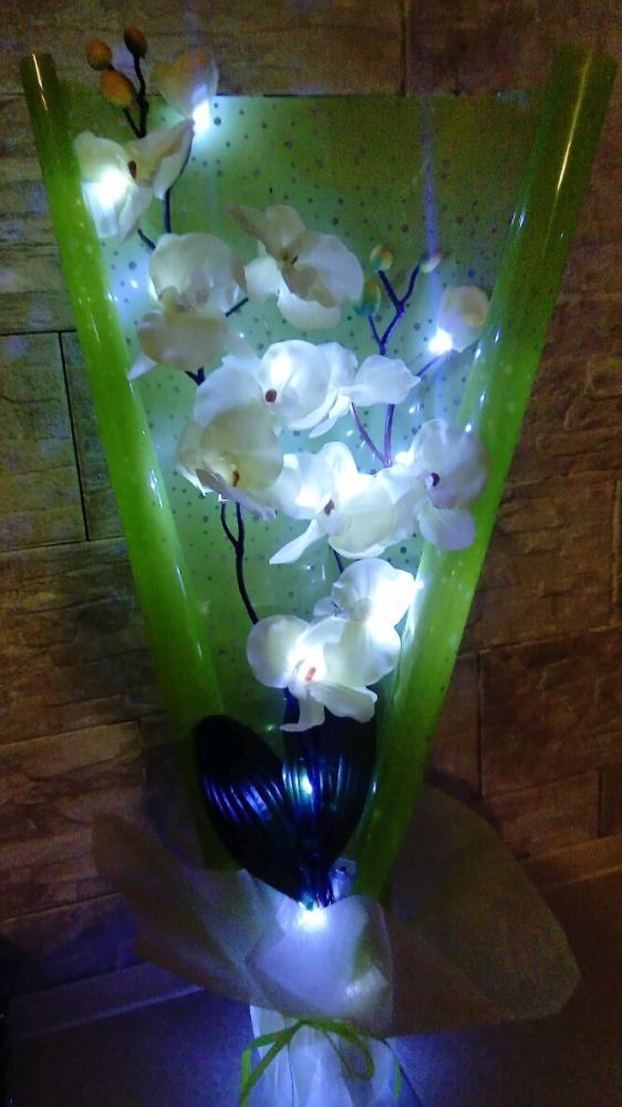 Lampka dekoracja świecący kwiatek