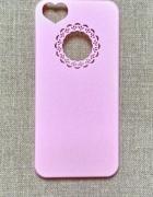Nowe etui case iPhone 4 4S róż różowe koronka serd