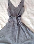 sukienka dresowa z koronką S