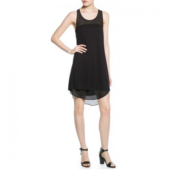sukienka szyfonowe wstawki mango nowa M