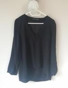 Zara czarna bluzka z dekoltem M L
