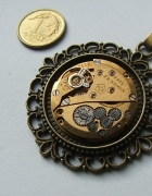 steampunk mechanizm zegarka Nairi 23 kamienie złoty...