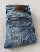spodnie jeansowe rurki diesel xs
