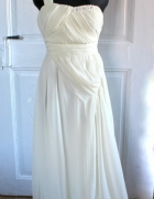 Kremowa balowa sukienka z cyrkoniami r L