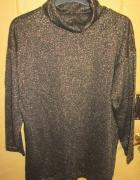 Rewelacyjna czarna tunika ze zlota nitka r 50