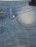 spodenki jeansowe bermudy biodrówki 36