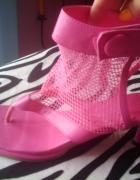 Sandały Siatka Różowe Japonki 38 Nowe