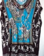 Bluzka tunika ozdobny dekolt...