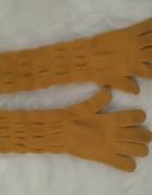 Rękawiczki długie miodowe