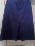 Zamszowakobaltowa spódnica