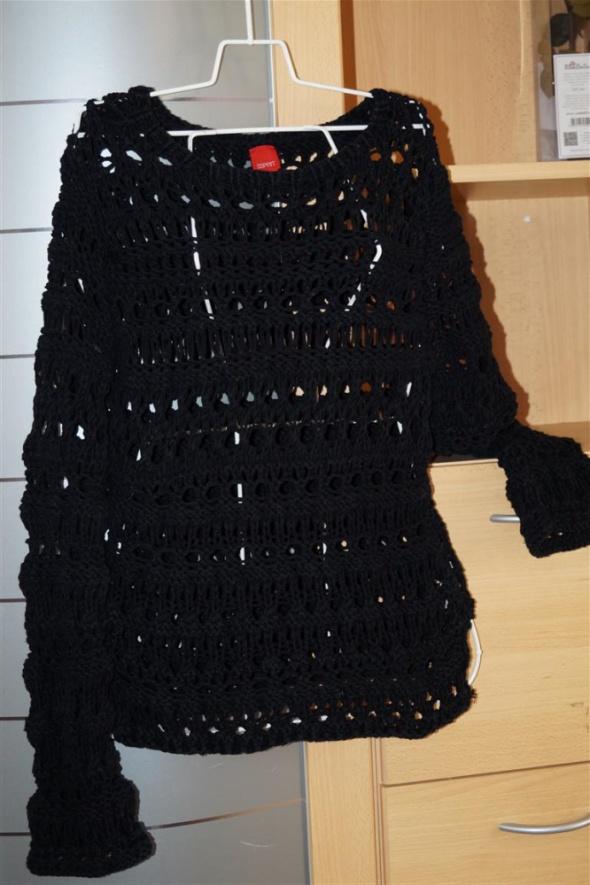 Sweter wełniany prześwitujący esprit czarny rozmiar M L...