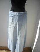 Długa trapezowa spódnica denim Monsoon rozmiar M L...