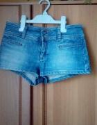 Wyprzedaż jeansowe szorty TOPSHOP moto 36...