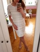 Biała koronkowa sukienka koronka L 40...