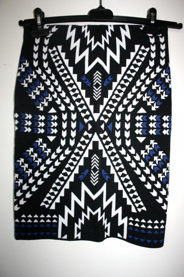 Spódnice Spódnica ołówkowa tuba wzór print aztec hippie h&m