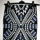 Spódnica ołówkowa tuba wzór print aztec hippie h&m