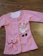 Różowe wdzianko bluza 110 116