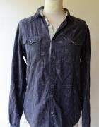 Koszula Jeans Jeansowa Kwiaty L 40 EDC Brand...