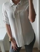 Miss selfridge koszula biała wiązany dekolt SM