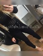 Spodnie czarne wiązane Rozm M