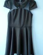 Sheinside sukienka piankowa kołnierzyk collar