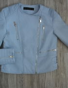 ZARA BASIC KURTKA RAMONESKA BABY BLUE BŁĘKITNA