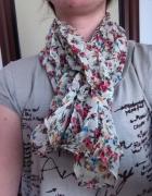 new Modny duży szal kolorowa krata kwiaty chusta w...
