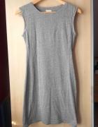 HM szara sukienka bodycon mini melanżowa klasyka