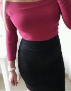 H&M spodnica ołówkowa dopasowana elegancka czarna S
