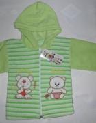 Nowa ciepła zielona bluza chłopięca