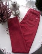 Świetne damskie spodnie jeansy w kolorze cegiełkowym Lindex 36 ...