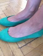 Zielone balerinki H&M rozm 39