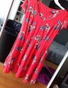 Sukienka wiosenna czerwona nowa z metką