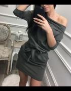 Sukienka Damska Khaki kokarda M