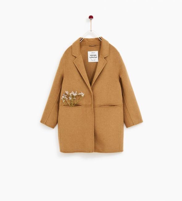 Płaszcz camel Zara...