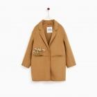 Płaszcz camel Zara