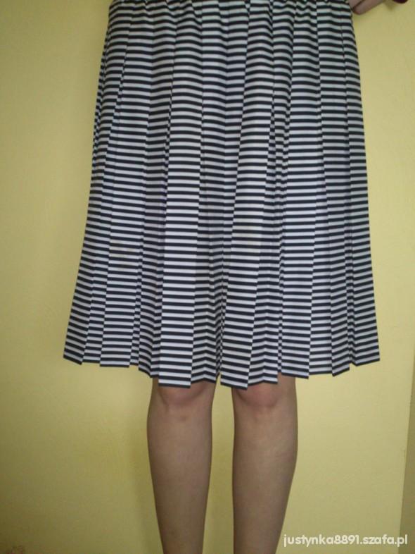 Spódnice Czarno biała plisowana spódnica