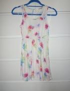 sukienka mini new look tunika w kwiaty floral