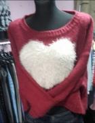 Sweterek serce uniwersalny