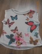koszulka mgiełka z motylami