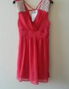 sukienka malinowa Vila