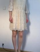 South koronkowa sukienka off shoulder L