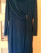 Sukienka koloru ciemnego morskiego marki GALLERY